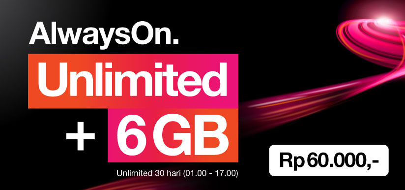 Paket Internet Unlimited 3 Indonesia