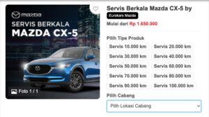 Harga Servis Berkala Mazda CX5 di Bengkel Resmi Eurokas via Garasi.id