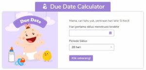 Website Kalkulator Kehamilan Popmama