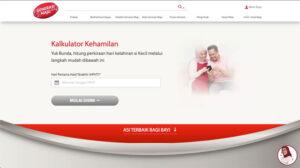 kalkulator kehamilan di website Generasi Maju